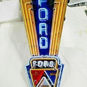 "Ford Jubilee sign 24"" Faux Neon style in Steel"